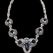 1980's Black Onyx Necklace