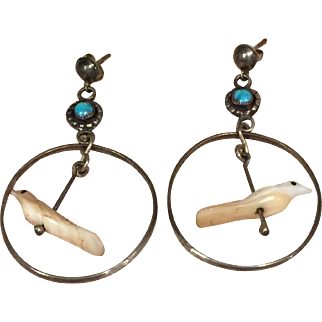 Zuni Bird Fetish Earrings