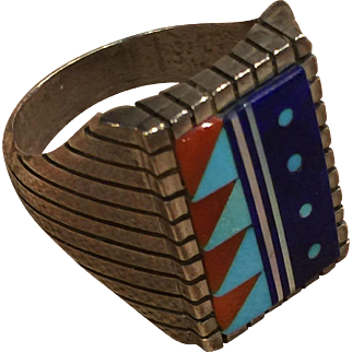Zuni Indian Style Inlay Ring