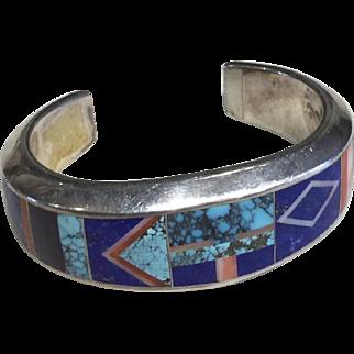 Inlay Bracelet  by Navajo Artist Tommy Jackson