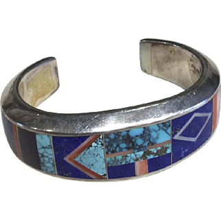Inlay Bracelet  by Navajo Artist Tommy Jackson