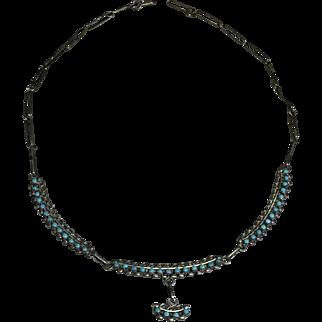 Zuni Style Turquoise Necklace