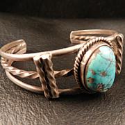 1070's Vintage Native American Style Turquoise Bracelet