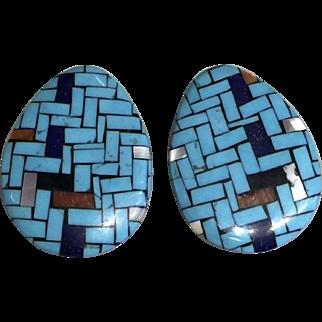 Mosaic Inlay Earrings