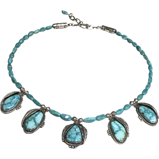 Navajo Style Turquoise Necklace