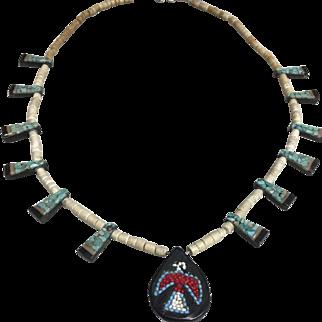 Vintage Santa Domingo Beaded Necklace