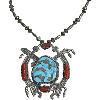 Native American Pendant with Yei Figures