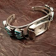 Zuni Style Turquoise Needlepoint Watch Cuff