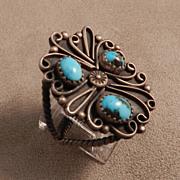 Turquoise Pawn Ring