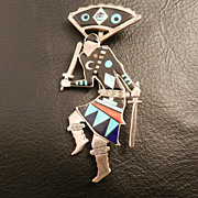 Zuni Mountain Spirit Pin/Pendant