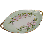 Elegant T & V Floral  Limoges Dresser Tray Ca 1907