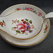 Royal Crown Derby Posies China Tea Strainer Base Bowl Stand Excellent XLIV