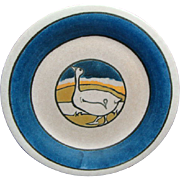 Paul Revere Pottery Plate Decorated With A Goose