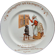 Vintage Royal Doulton Nursery Rhyme Plate Old Mother Hubbard