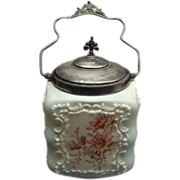 Victorian Mt Washington Cracker Or Biscuit Jar Ca 1870
