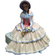 "Royal Doulton Porcelain Figurine ""DAY DREAMS"" HN1731 Ruffled Dress, Bonnet MINT Condition"