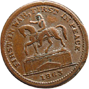 1863 Civil War Token Union For Ever First In War First In Peace Planchet Die Mint Error
