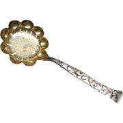 "Tiffany & Co. Sterling Silver Vine Fruits & Flowers ""Gourd"" Sugar Sifter Spoon 6 3/8"""