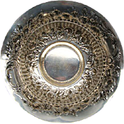 Heavy Antique Gorham Sterling Silver Floral Repousse Wine Coaster