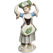Meissen Figurine The Gathering Lady Ca 1875