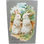 1909 Easter Postcard White Rabbits By Tuck Series 101