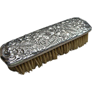 Antique Tiffany & Co Sterling Silver Floral Repousse Clothing Brush