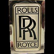 Franklin Mint Sterling Silver Ingot - Rolls Royce Automobile Emblem
