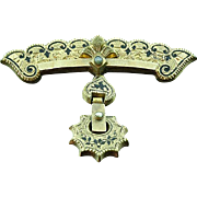 Victorian Gold Filled Mourning Brooch Pin Ca 1870