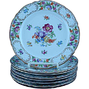 Set Of 8 Schumann Bavaria Germany US Zone Empress Dresden Flowers Salad Plates
