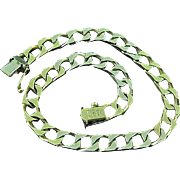 "Heavy UnoAErre Italian Solid 18k Yellow Gold Figaro Link Chain Bracelet 8"""
