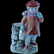Antique German Schafer & Vater Germany Match Holder Victorian Child With Lantern