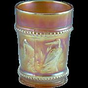 Antique Marigold Dugan Carnival Glass Storks & Rushes Estate Find