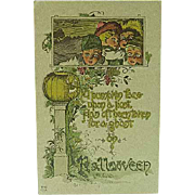 1915 Halloween Postcard By Nash H-10 Series