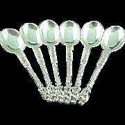 6 English Sterling Silver Apostle Spoons William Hutton C. 1892
