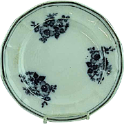 "Antique 9 3/4"" Staffordshire Floral Mulberry Plate Ca 1850"