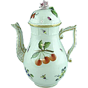 Vintage Herend Fruit and Flowers Coffee Pot
