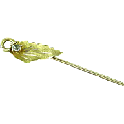 Victorian Gold Filled Stick Pin With Faceted Clear Stone