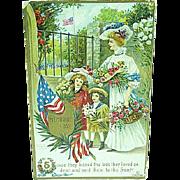 1909 Embossed Memorial Day Postcard Artist Signed Chapman