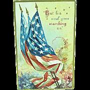 1909 Embossed Memorial Day Postcard Artist Signed Ellen Clapsaddle