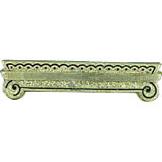 Victorian Gold Filled & Black Enamel Mourning Bar Pin