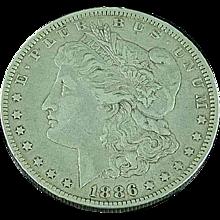 1886 O Morgan Silver Dollar Orleans Mint