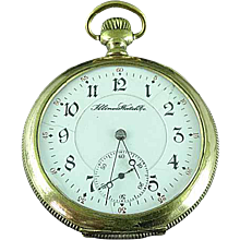 Antique GF Illinois 179 Movement 21 Jewel 6 Adj Pocket Watch Runs Well C 1896
