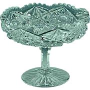Antique ABP American Brilliant Period Cut Glass Compote