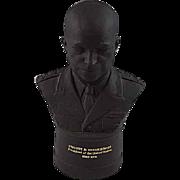 Wedgwood Black Basalt Bust Dwight D. Eisenhower President of United States