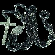 Vintage Black Onyx Rosary Beads