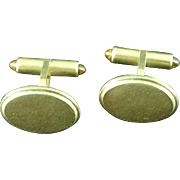 Antique Elegant Krementz Gold Filled Cuff Links With Jeweled Tips