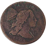 1794 US Liberty Cap Large Cent Coin Lettered Edge