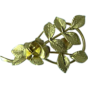 Vintage Signed Creed 1/20th 12K Gold Filled Floral Brooch Pin