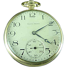 Antique 1920 South Bend # 429 19j Size 12s Gold Filled Pocket Watch Running