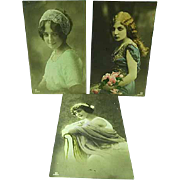 3 GG Company Real Photo Postcards French Beauties Ca 1910